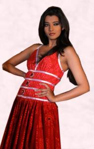 Modern Indian fashion - Red Dress