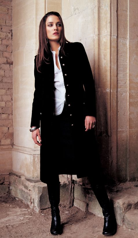 Velvet Black Military Frock Coat 2006 Fashion History