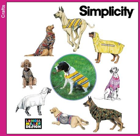 Sewing Patterns for Dog Clothes - Simplicity - Sweet Lucy's