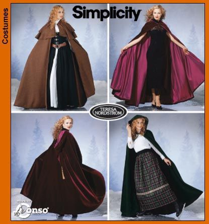 cloakcapesimp5794 Costume Sewing Patterns