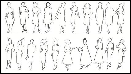 Outline Costume History Costume Silhouettes 1940-1950