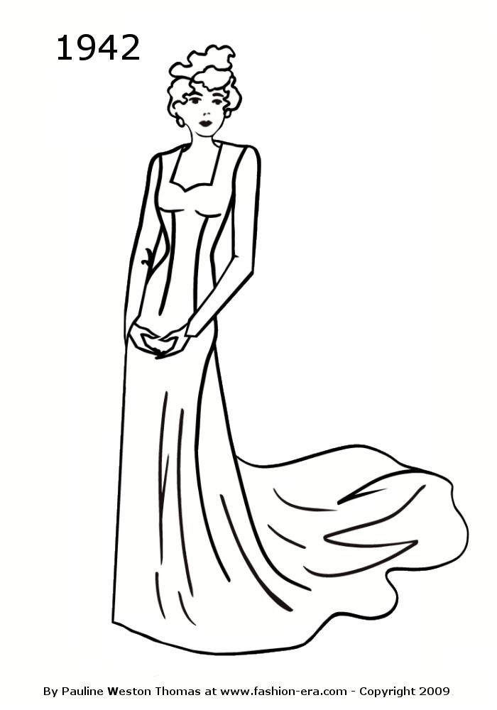 Fashion Gown Drawing Fashion Silhouette Drawing
