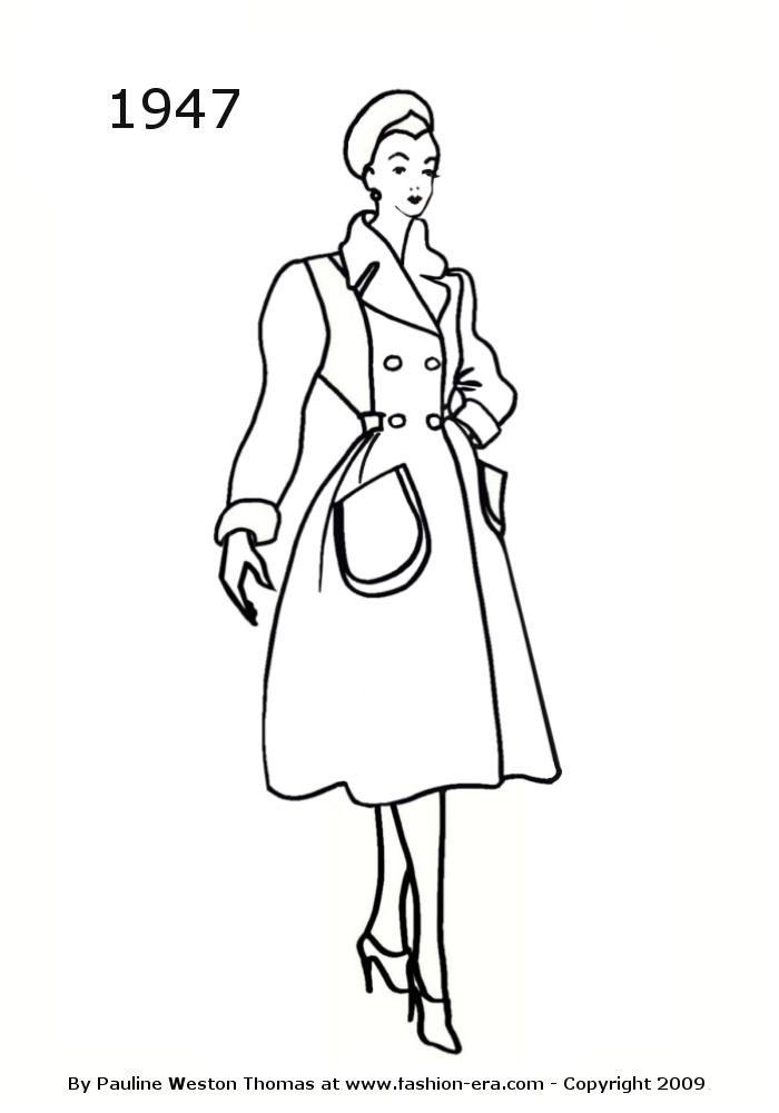 Costume History Silhouettes 1940s