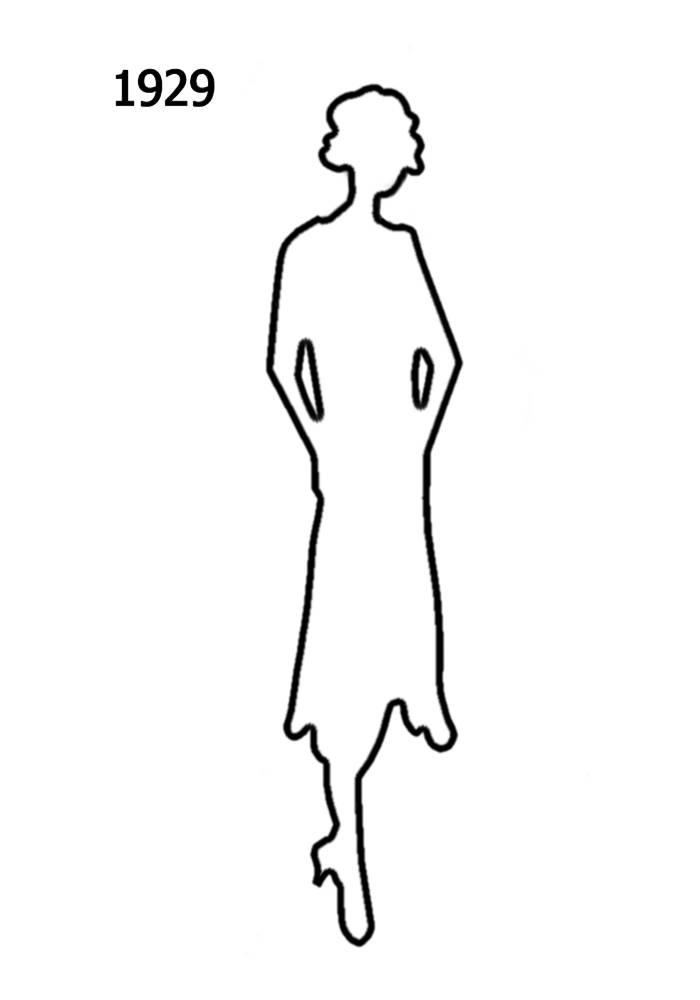 free outline white silhouettes 1920