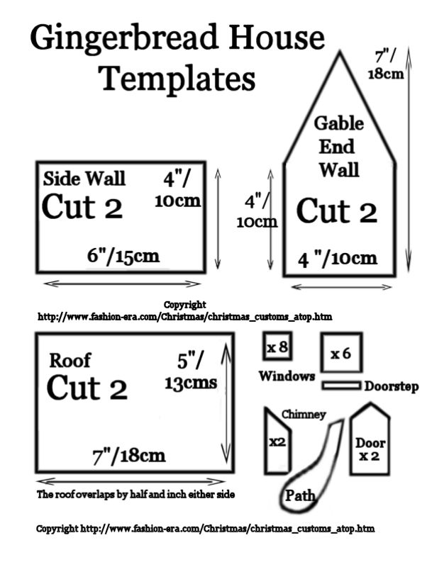 This is a photo of Eloquent Gingerbread House Templates Printable