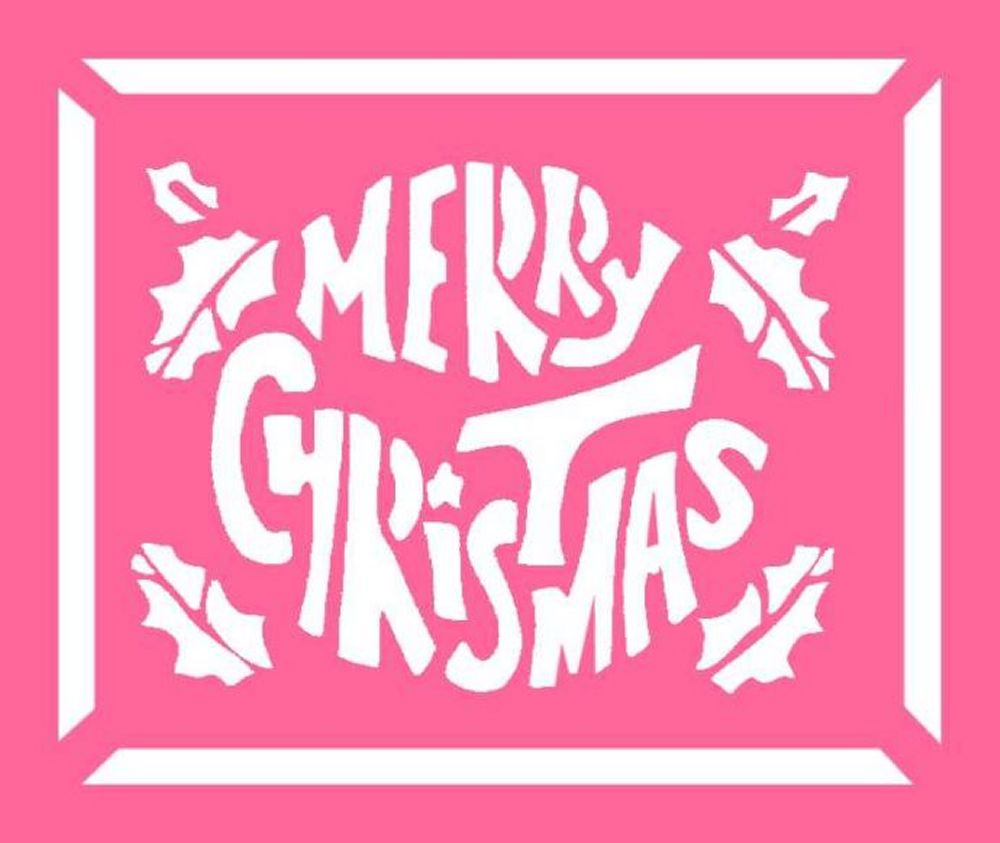 Free christmas stencils advent craft ideas for children for Merry christmas letter stencils