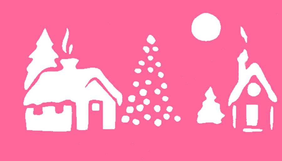 Free Christmas stencils  Advent craft ideas for children to cutout
