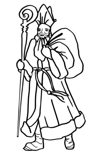 Santa Picture colouringin Free Colouring Pictures of Father