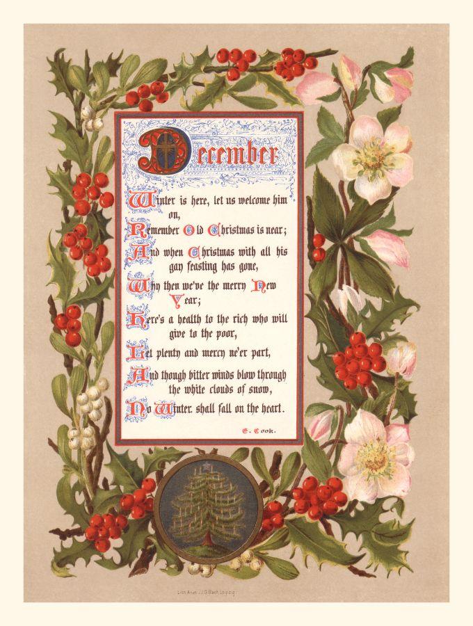 Calendar Months - December birthstones and astrology signs
