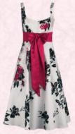 Debut ivory, black & pink shanghai scoop neck dress £80 from Debenhams Spring/Summer 2007 Womenswear.