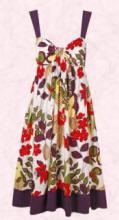 Purple floral print empire bra dress - £25/€40 from Dorothy Perkins Spring/Summer 2007.