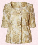 Gold brocade jacket £45/€70 from Dorothy Perkins Spring/Summer 2007 range
