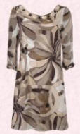 Mink multi silk sleeved print tunic with beads £60/€99 is from Wallis Spring/Summer 2007.