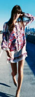 Floral silk mini tunic dress £55 from Warehouse Spring/Summer 2007.