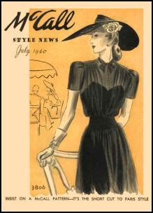 Butterick Costume Patterns 1940 45 Mccalls Dressmaking