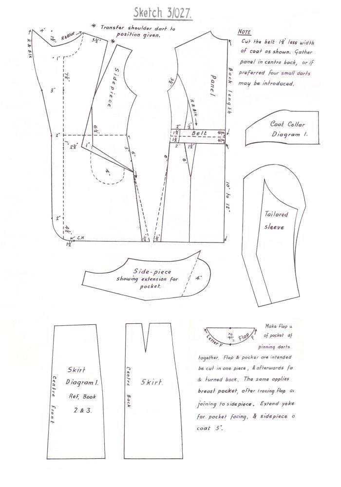 1940s Costume History 1948 Pattern Cutting Fashion