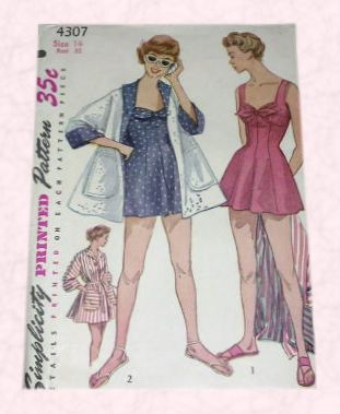 a2c680eacc3f5 Beach cover up and playsuit - vintage simplicity dress pattern cover  courtesy anothertimevintageapparel