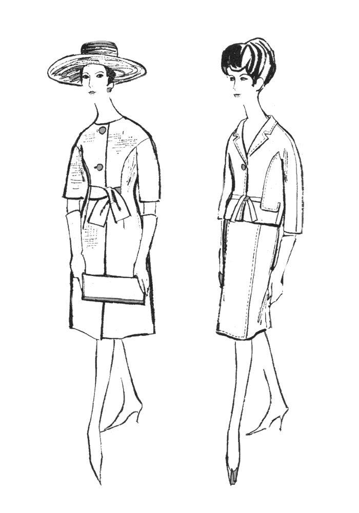 1960s ColouringIn Fashion Line