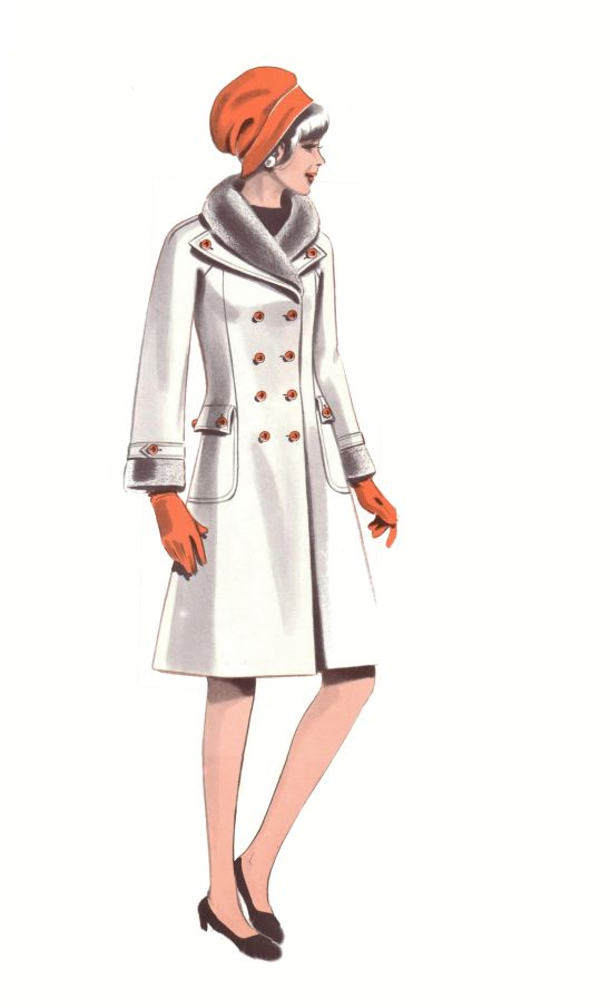 1970s Fashion History Design Of Womens Coat 1974