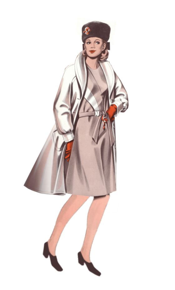 1970s Fashion History Design Of Womens Coat 1974