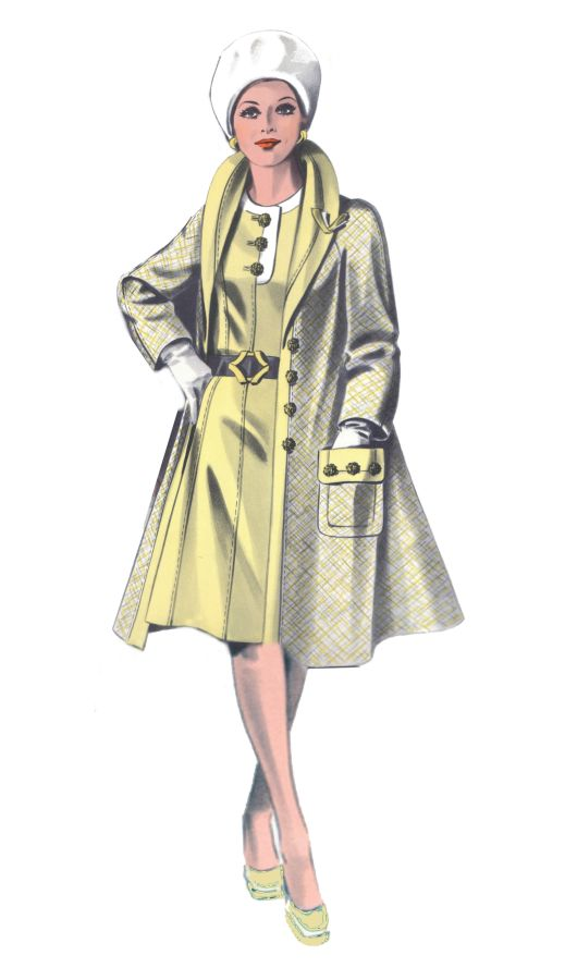 1970s fashion history - Design of Womens Coat 1974 ...