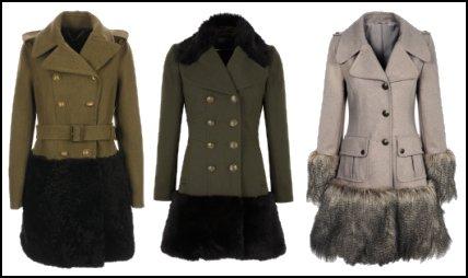 Fur Trim Hem Military Coats 958b8aecbb