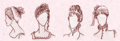 basic hair styles regency amp hairstyles and hats 1800 1840 fashion 1840