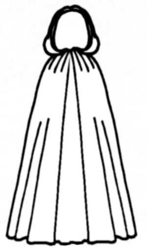 Cloak Line Drawings Fashion And Costume History 1 Fashion History