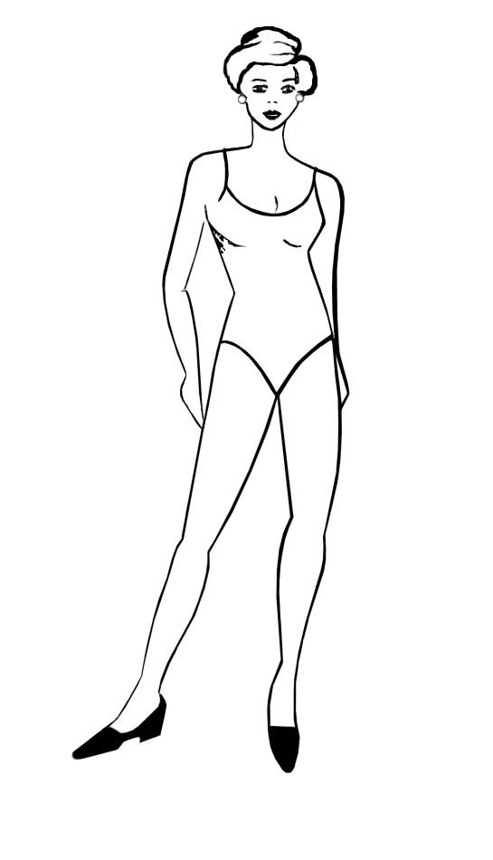 Elegant Pose Fashion Drawing Templates Free Fashion Templates 2