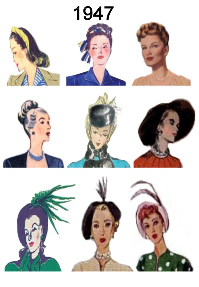 Picture of C20th Hair Styles   Hats Fashion History 1947 Costume History 00dc6d84001