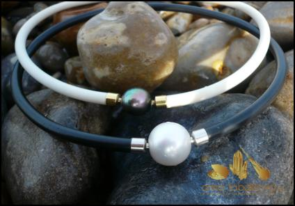 Black & White Tahitian Pearl Clasps