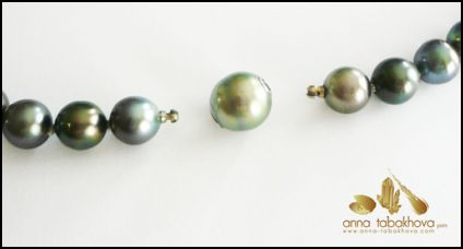 Pearls with bayonet end connection ready for any style of CliClasp ©.