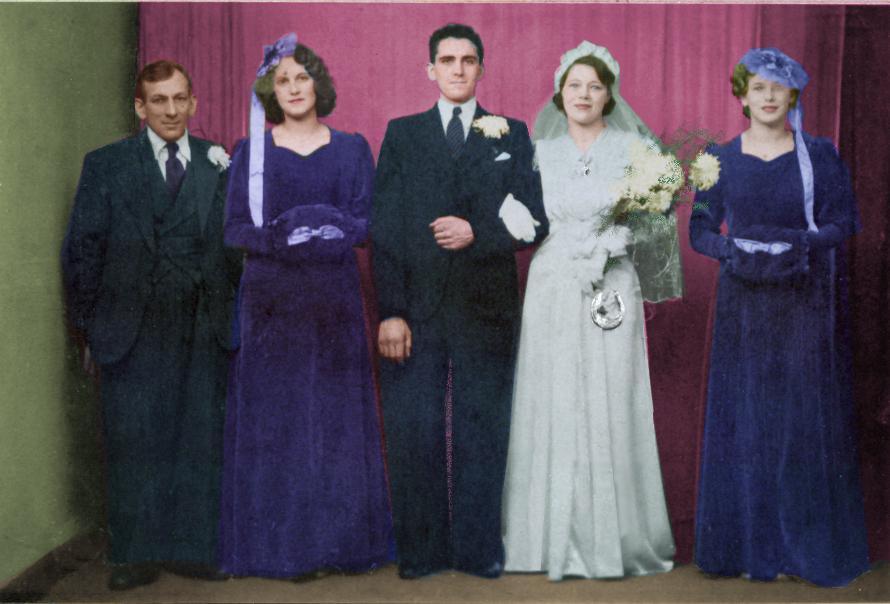 1940s Wedding Dresses Photographs Wartime Wedding Fashion History