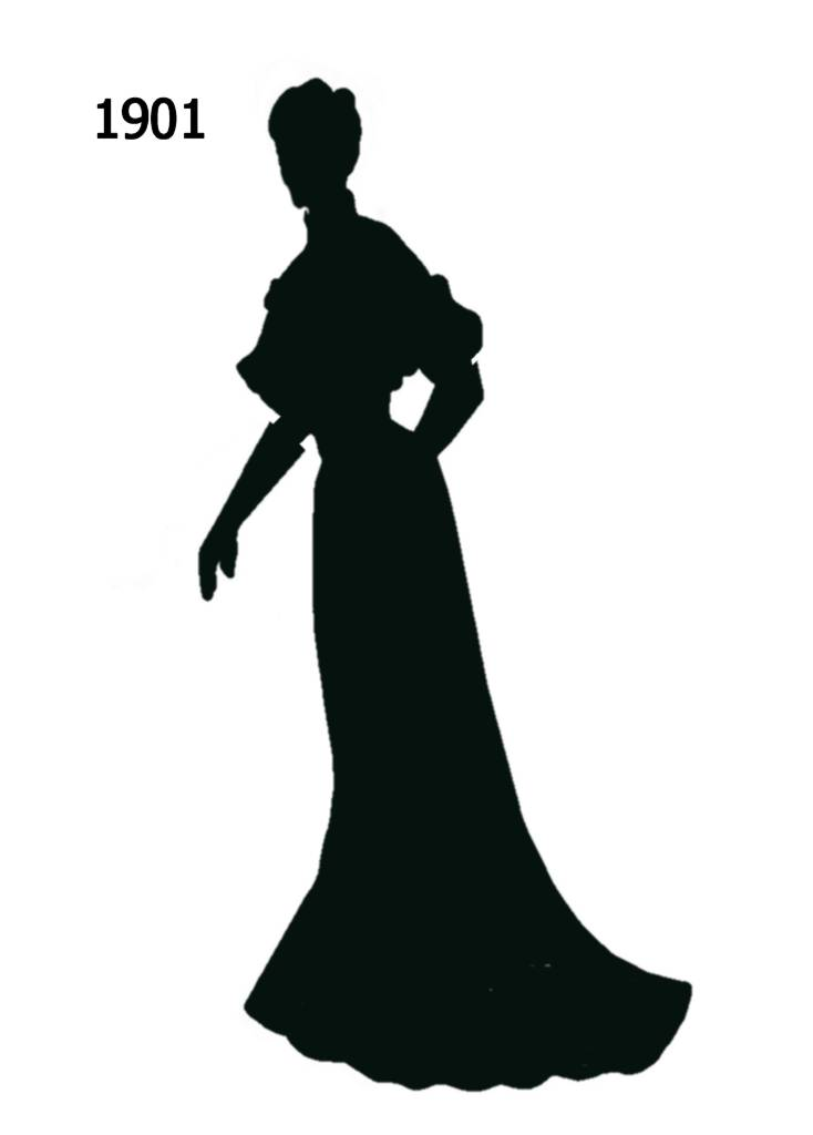 Free Black Silhouettes 1900 1910 In Costume History 1a