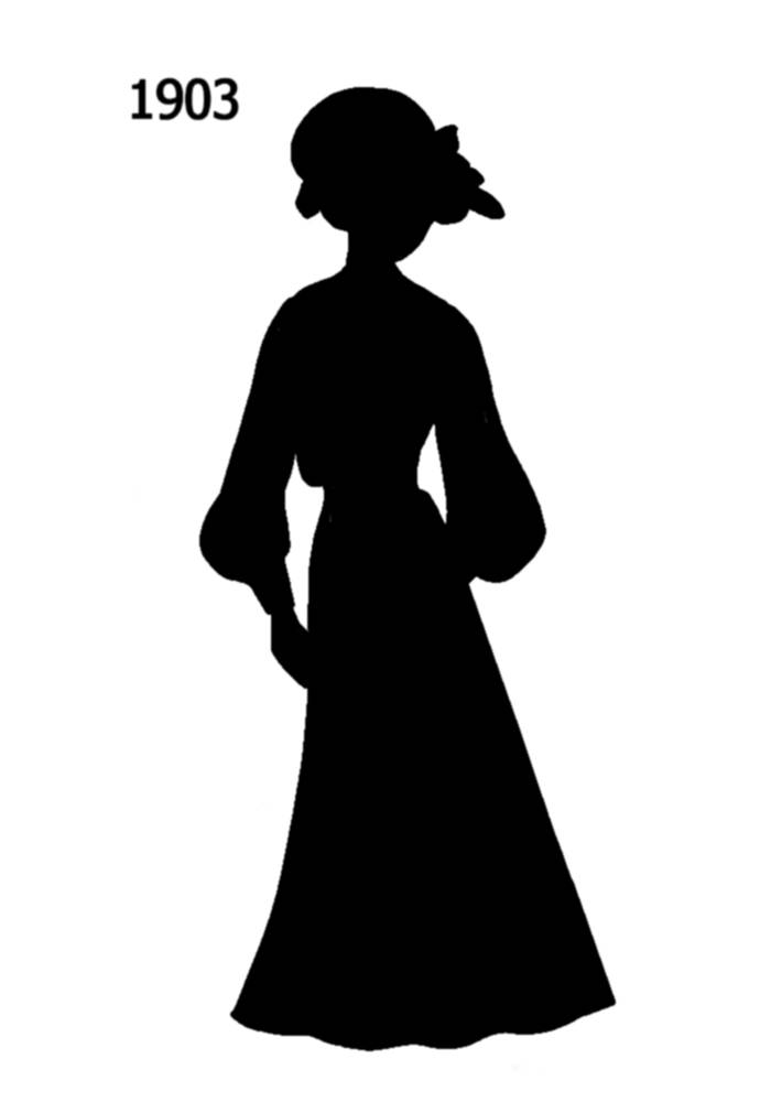 free black silhouettes 19001910 in costume history 1a