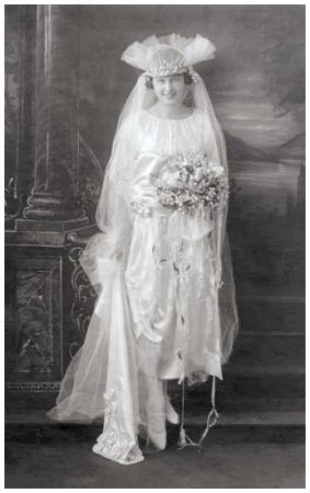 Old 1922 Wedding Photos Bridal Dress Pictures Of 1920s