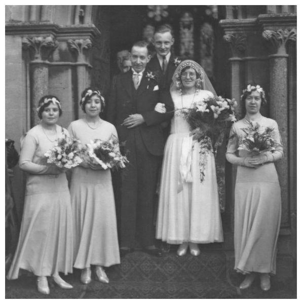 1930s Wedding Dress Old Photo 1931 Bride's Dress