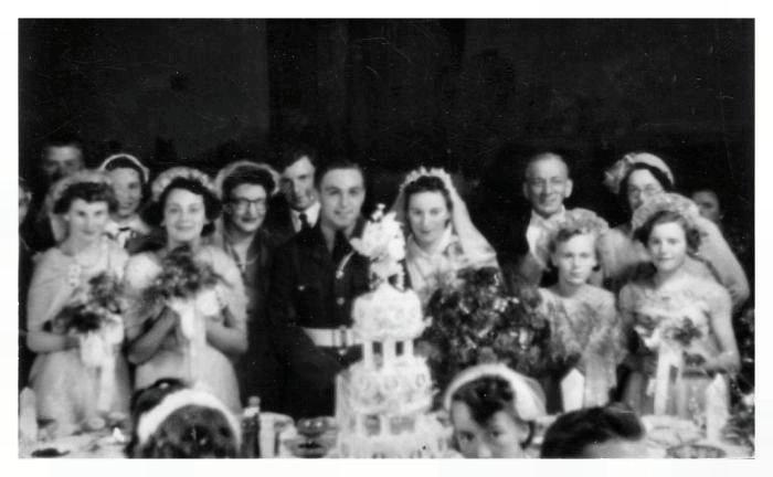 1950s Old Wedding Photos Year 1954 Bride Bridesmaids
