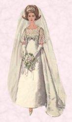 1965 Empire Wedding Dress Pictures Of Bride 1960s Wedding