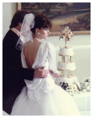 1980s wedding pictures of brides with husband 1986