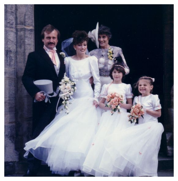 1980s Wedding Pictures Of Brides With Husband 1986 Wedding Dress