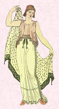 583bff96f Fashion History Image - Ancient Greece Costume - The overall look for both  women and men