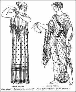 ancient greek costume history ionic chiton doric