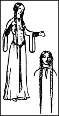 Pictures of Early Medieval Womens Hair & Headdresses 1066