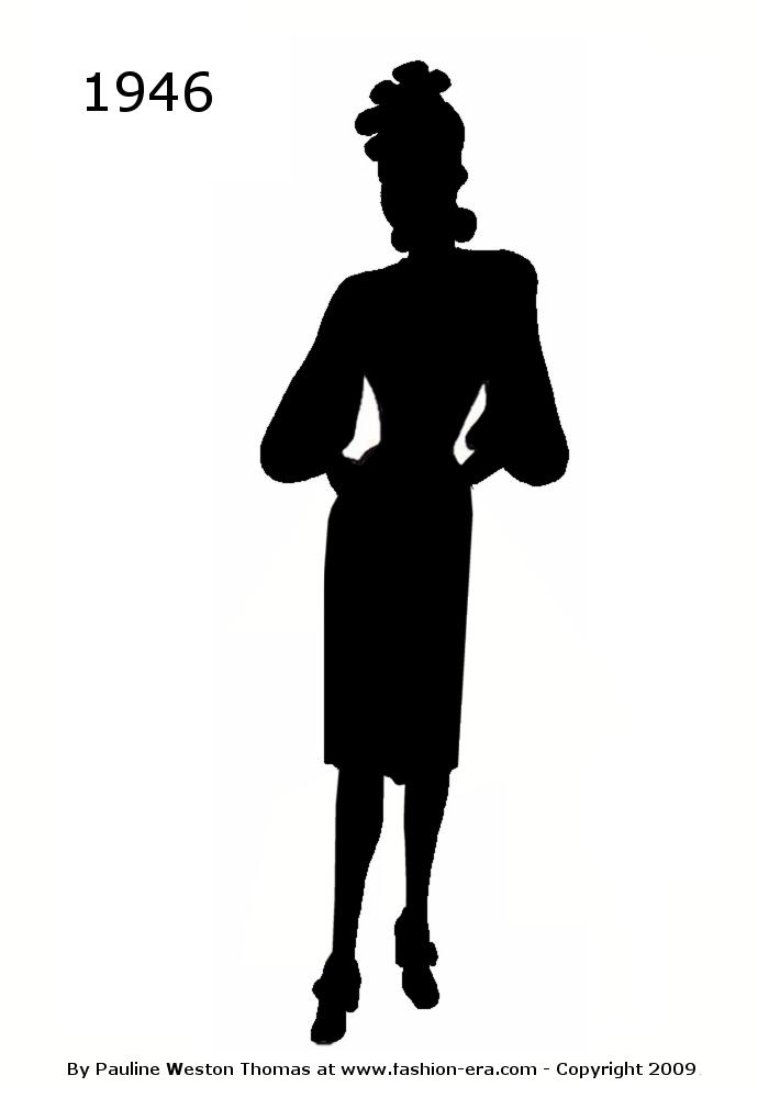Costume History Silhouettes Black Cameo Style 1940s Free