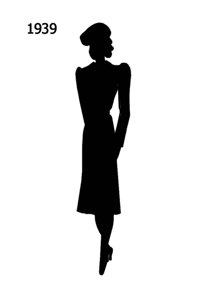 1930 to 1940 free black silhouettes in costume history
