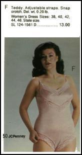 fce1b98b1 1980s Lingerie Teddy - 1982 Plus Size Model